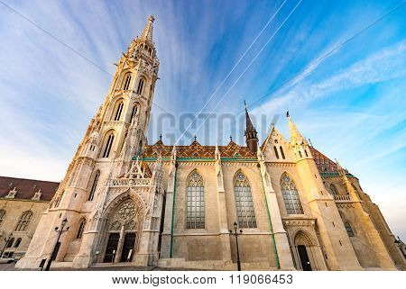 Buda Temple Church Of Matthias. Budapest Castle District.