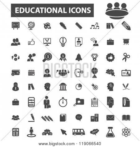 educational icons, educational logo, study icons vector, study flat illustration concept, study infographics elements isolated on white background, study logo, study symbols set, education, course