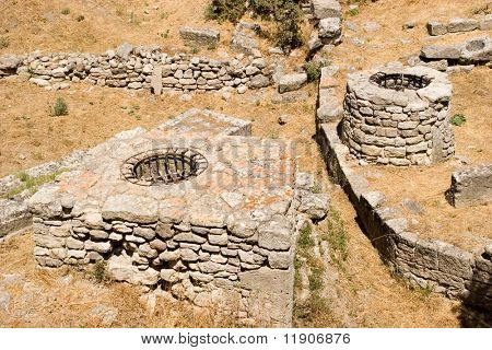 Ruins at ancient city of Troy