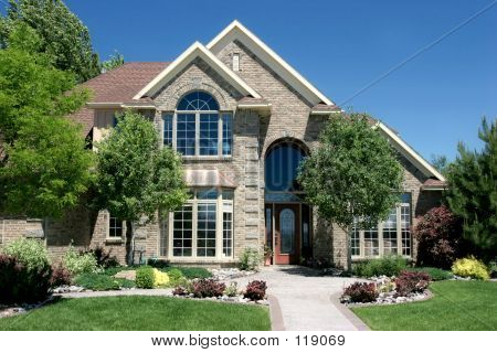 Modern American Home Image Photo Bigstock