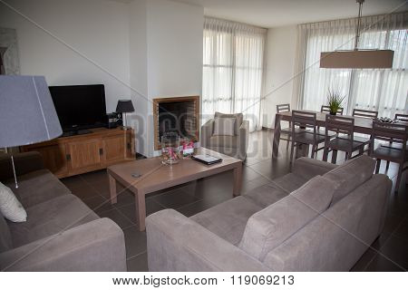 Photo Of New Design Living Room With Cosy Furniture