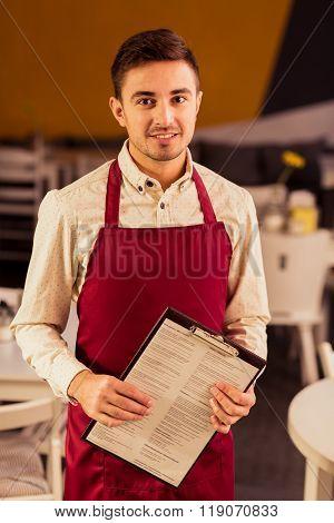 Waiter And Menu