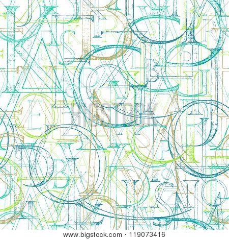 Wallpaper Seamless Pattern With Modern Roman Classic Alphabet