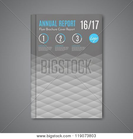 Vector Abstract Low Polygonal Shape Background For Corporate Business Annual Report Book