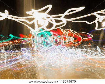 Magic Abstract Light Trails In Random Motion - Abstract Background Image