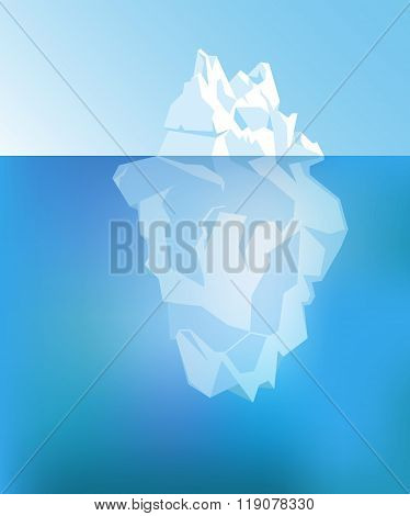 Background with Iceberg. Vector