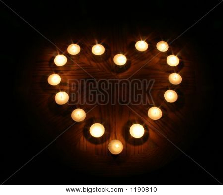 Heart Made Of Candles