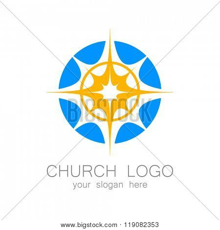 Church logo -  vector design template. Template logo for churches and Christian or organizations. Church name, church icon,  christian logo,  religion logo.