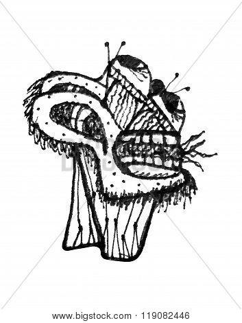 Fantasy Monster Head Drawing