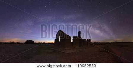 Panoramic Milky Way At Fort Griffin, Texas