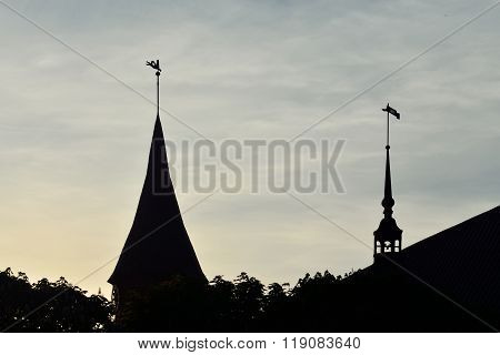 Silhouette Of The Cathedral Of Koenigsbergt. Kaliningrad, Russia