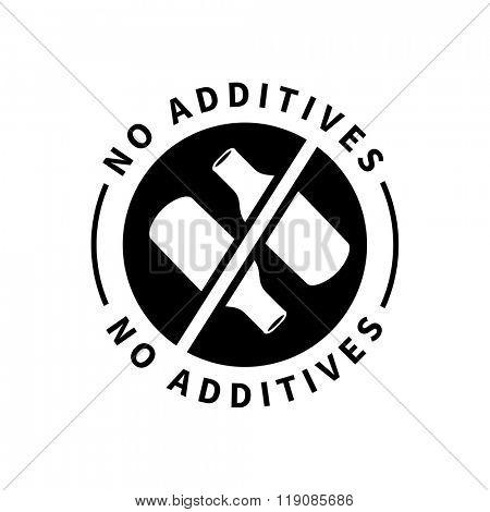 Food product badge - No additives