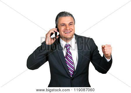 Businessman's phonecall.