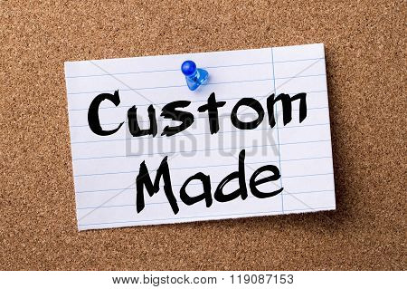 Custom Made - Teared Note Paper Pinned On Bulletin Board