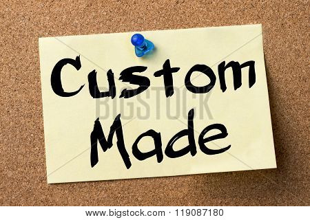 Custom Made - Adhesive Label Pinned On Bulletin Board