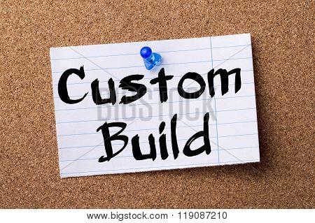 Custom Build - Teared Note Paper Pinned On Bulletin Board