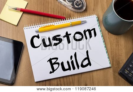 Custom Build - Note Pad With Text