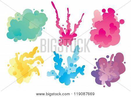 Holi background. Holi vector. Traditional Indian festival Holi. Bengali New Year. Holiday of spring. Holi colorful illustration. Holi holiday. Holi watercolor. Holi art. Holi celebration, Happy Holi.