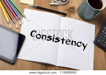 Consistency - Note Pad With Text