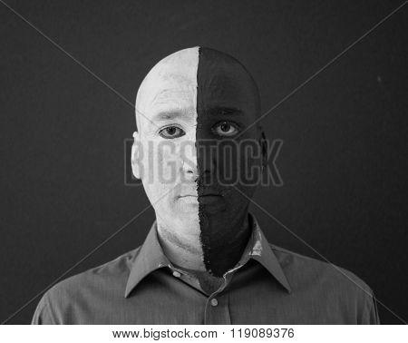 Paint color gesture expression man face