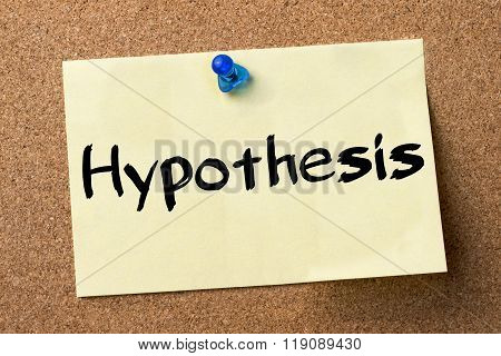 Hypothesis - Adhesive Label Pinned On Bulletin Board