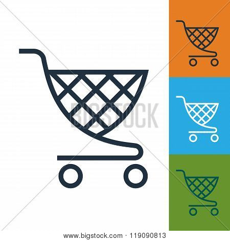 Shopping cart icon shopping cart vector photo bigstock for Name of online shopping websites