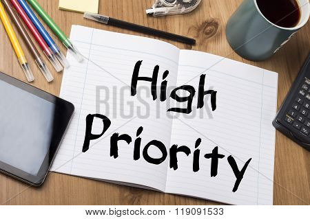 High Priority - Note Pad With Text