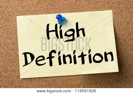 High Definition - Adhesive Label Pinned On Bulletin Board
