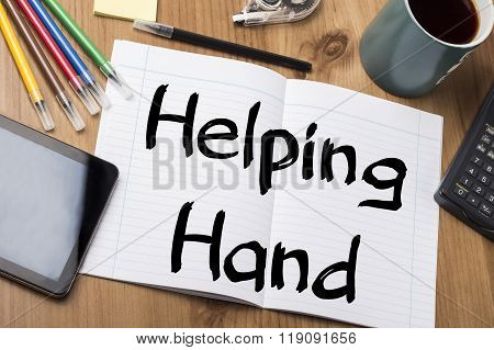 Helping Hand - Note Pad With Text