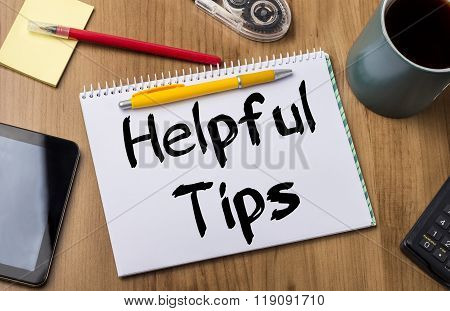 Helpful Tips - Note Pad With Text