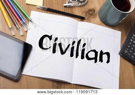 Civilian - Note Pad With Text