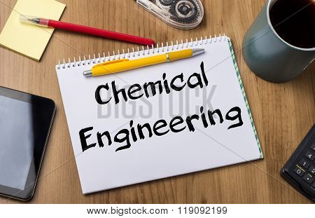 Chemical Engineering - Note Pad With Text