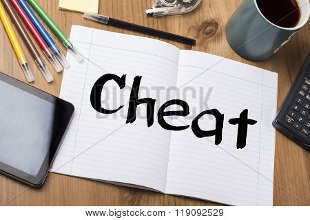 Cheat - Note Pad With Text