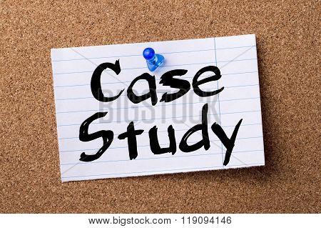 Case Study - Teared Note Paper Pinned On Bulletin Board