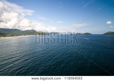 Aerial View of Islands in Sao Sebastiao, Brazil