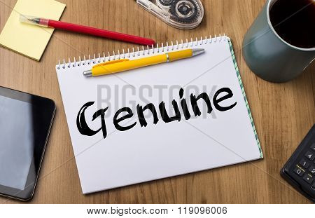 Genuine - Note Pad With Text
