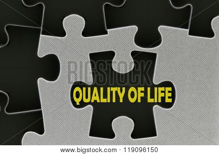 Jigsaw Puzzle Written Word Quality Of Life