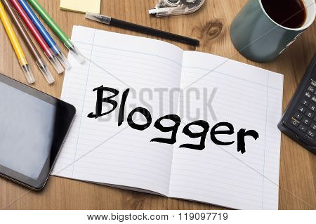 Blogger - Note Pad With Text