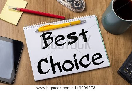 Best Choice - Note Pad With Text