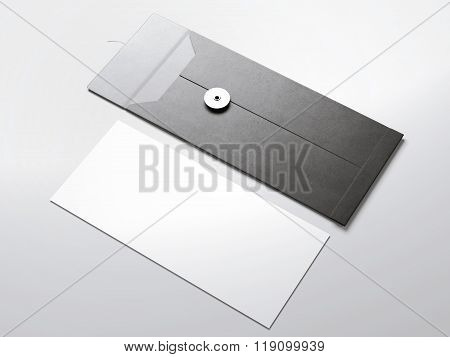 Stylish envelope with white paper sheet