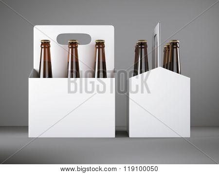 White blank beer packaging
