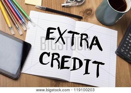 Extra Credit - Note Pad With Text