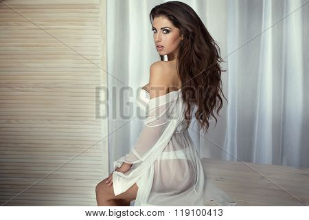 Romantic Sexy Woman Posing.