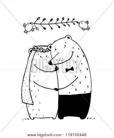 Bear Wedding Couple