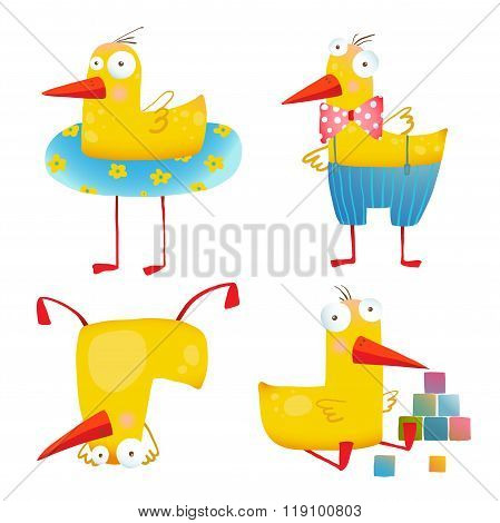 Kids Duck Funny Toy Set