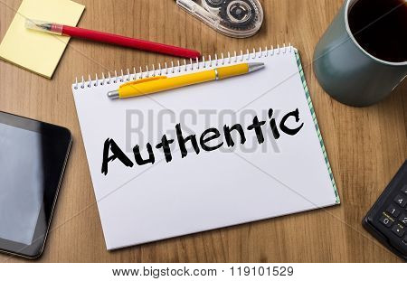 Authentic - Note Pad With Text