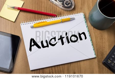 Auction - Note Pad With Text