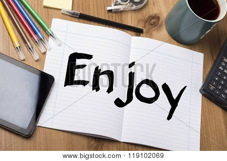 Enjoy - Note Pad With Text
