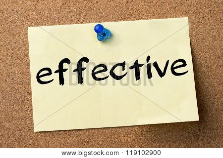 Effective - Adhesive Label Pinned On Bulletin Board