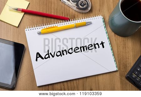 Advancement - Note Pad With Text